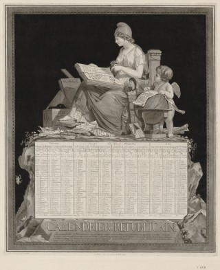 Engraving of the French Republican Calendar.