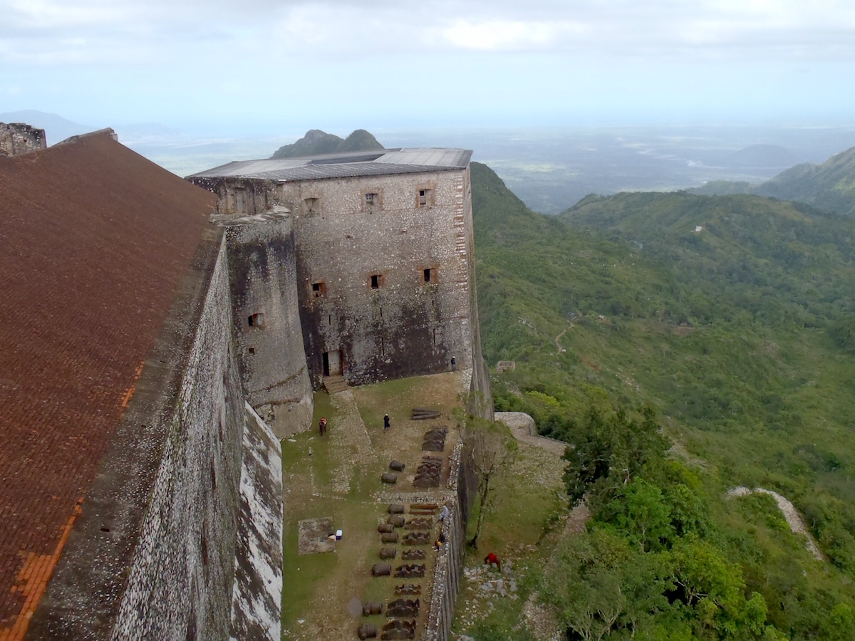 Mountain-top view towards the Plaine du Nord from the Citadelle Henry.