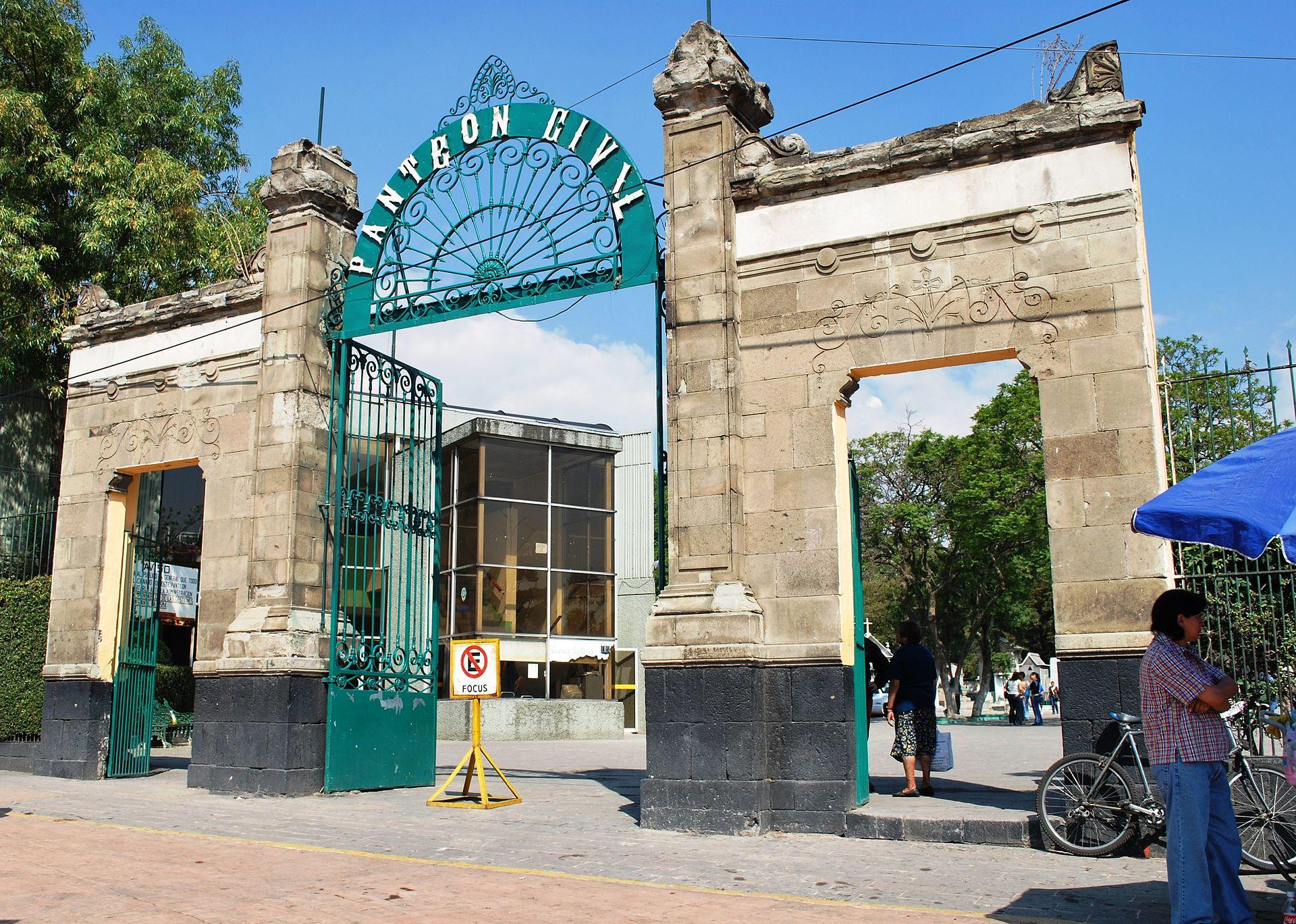 Entrance gate to the Pantheon Civil de Dolores.