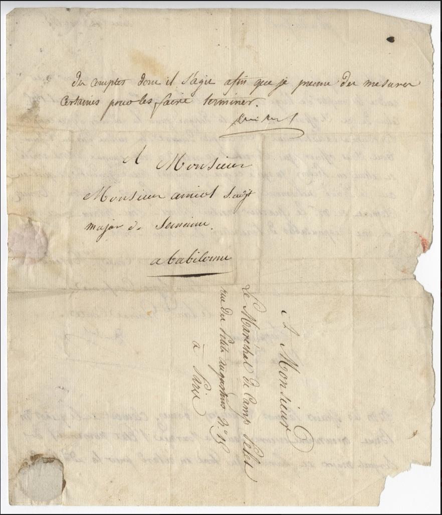 Handwritten manuscript letter.