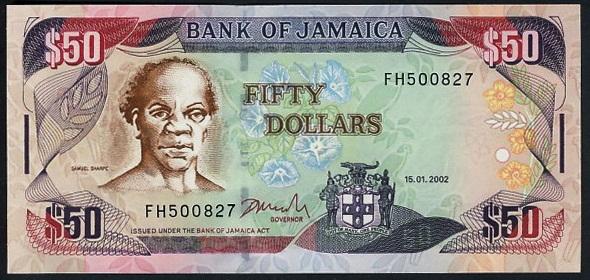 A Jamaican $50 bill.