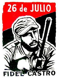 Poster of a portrait of Fidel Castro.