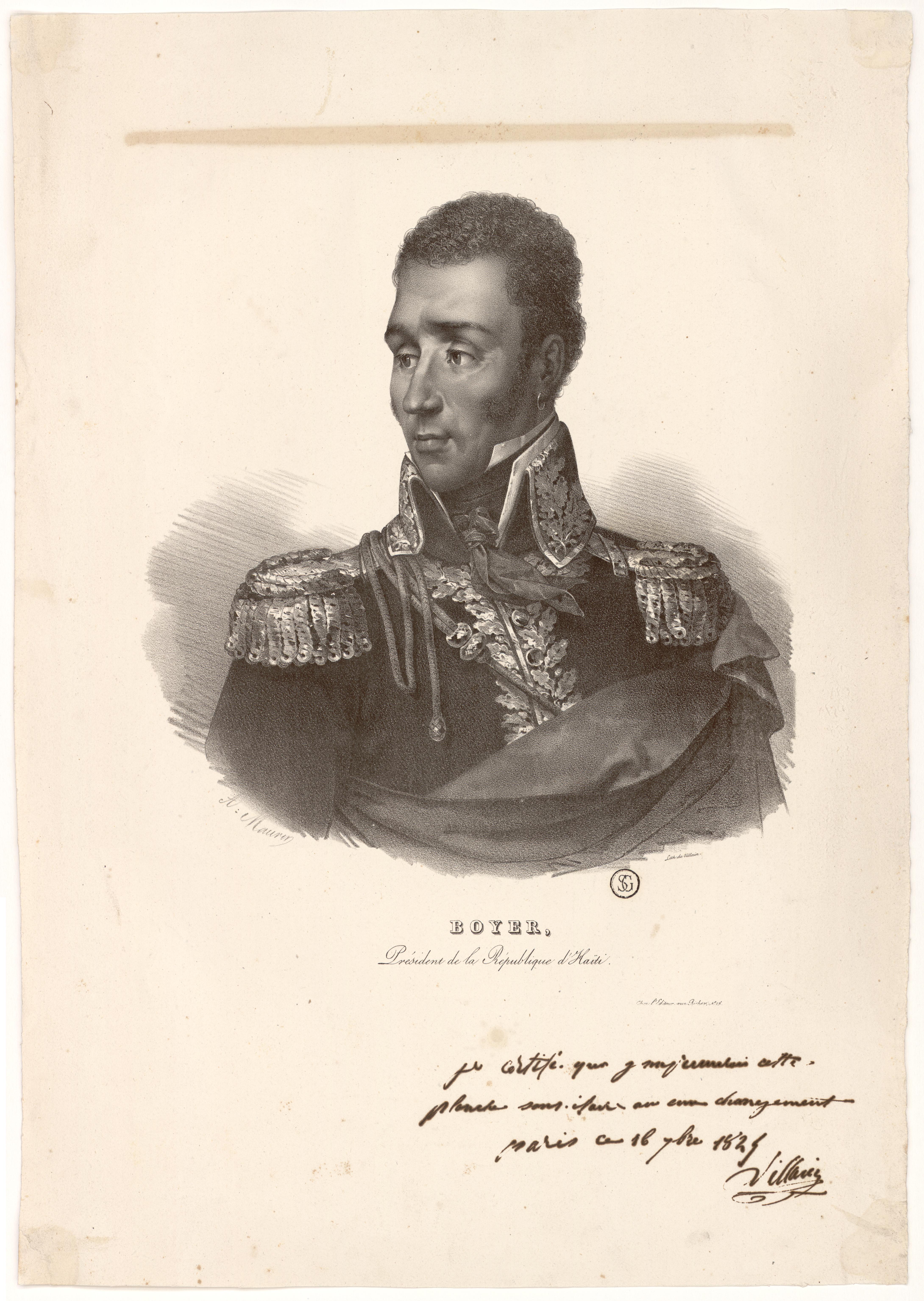 Portrait of Boyer in military uniform.
