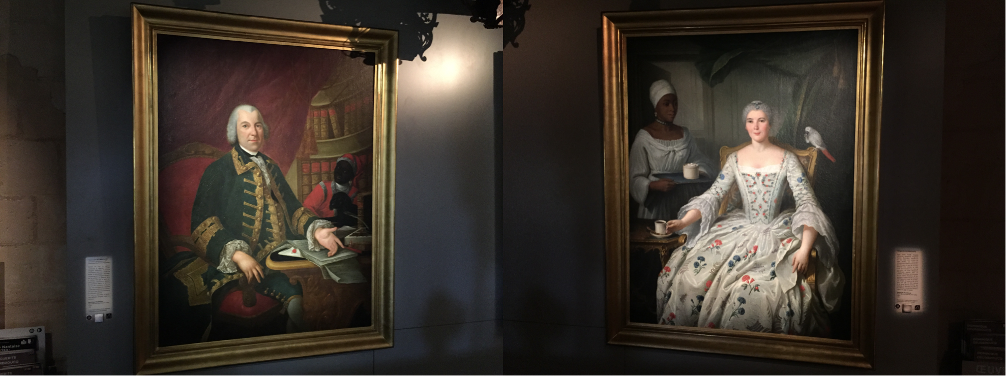 Two portraits of the Dominique and Marguerite Deurbroucq.