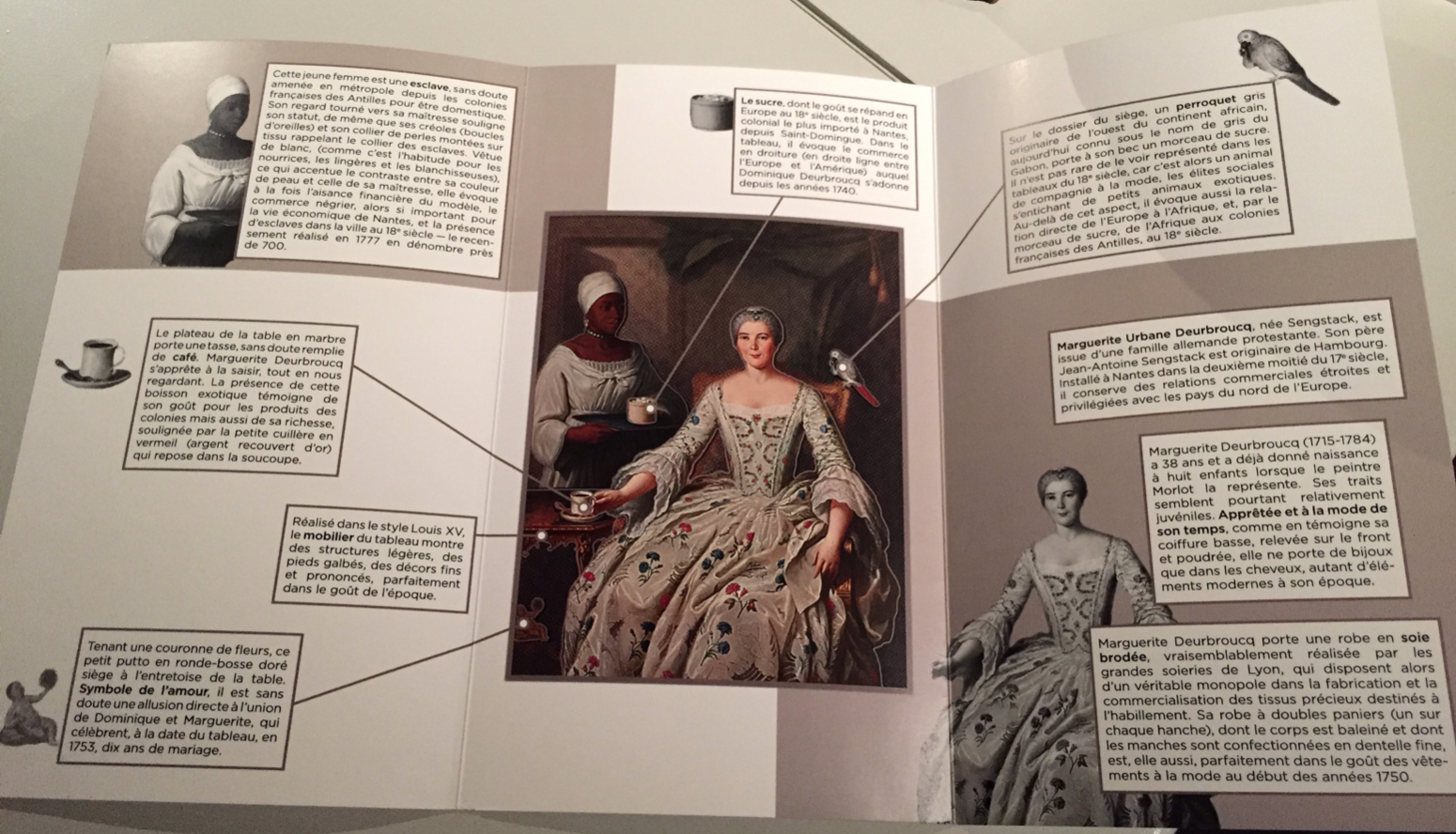 A booklet explaining the details of the portrait of Marguerite Deurbroucq.