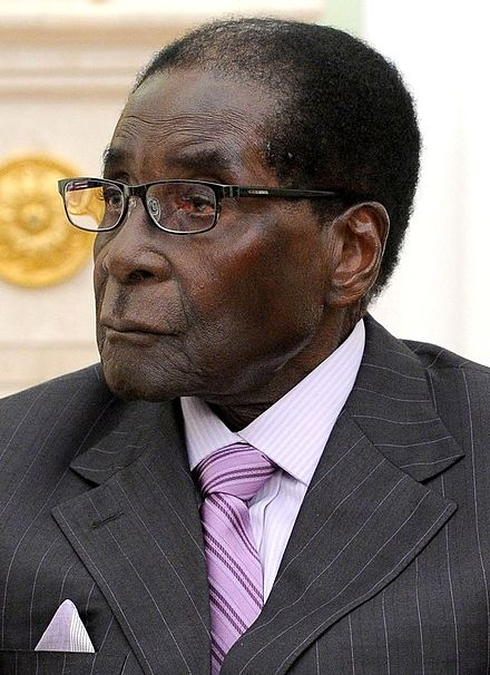 Photograph of Robert Mugabe.