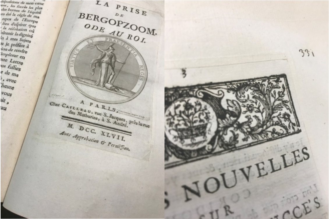 Title pages of two French political pamphlets from the Newberry Library.
