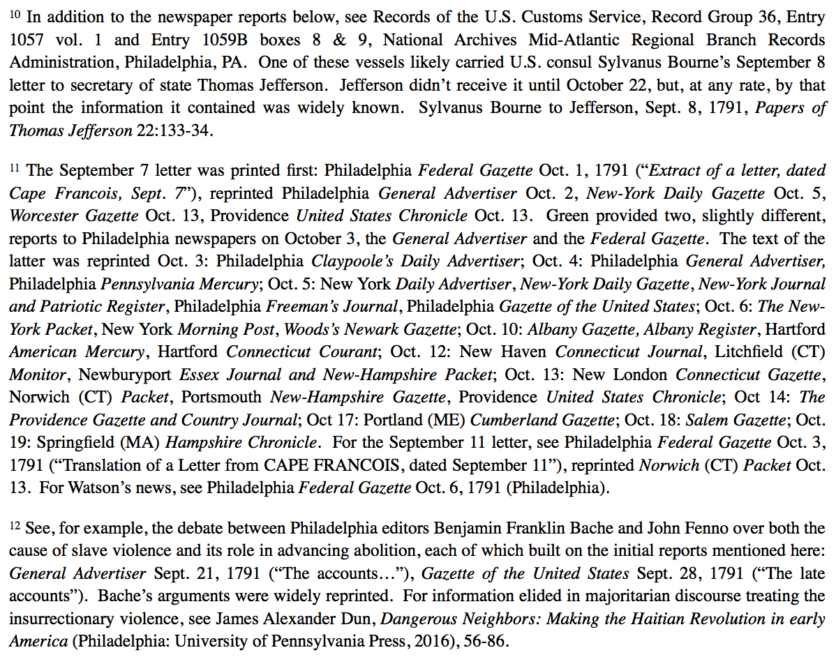 Endnotes to the article.
