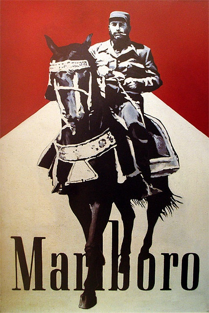 Malboro cigarette carton with picture of José Angel Toirac on a horse.