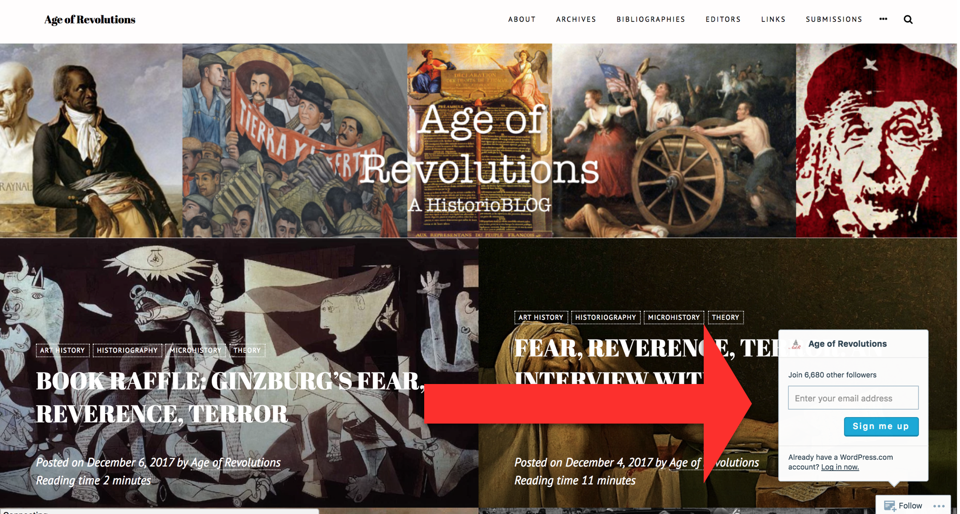 How to subscribe to Age of Revolutions.