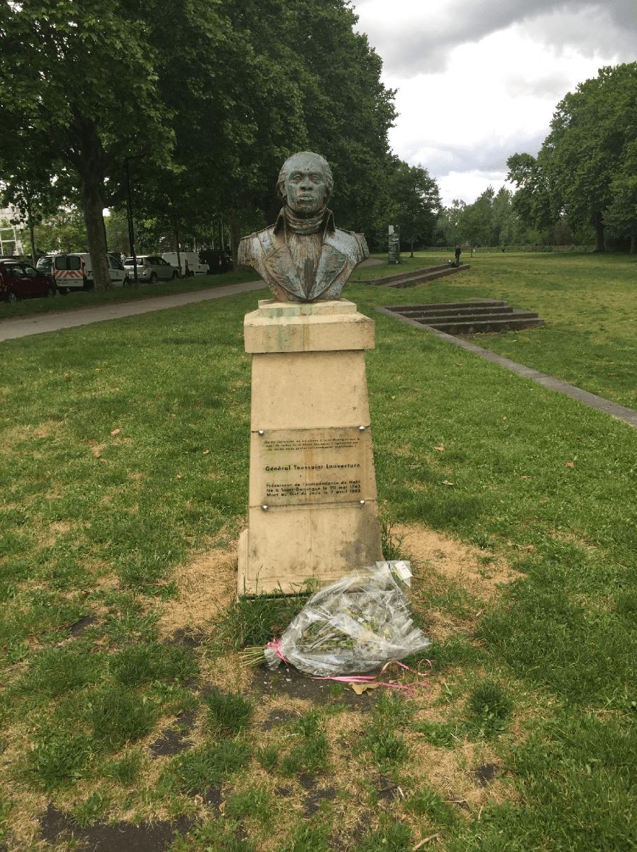 Bust of Toussaint Louverture.