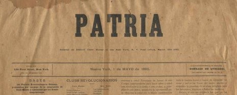 Front page of newspaper Patria.