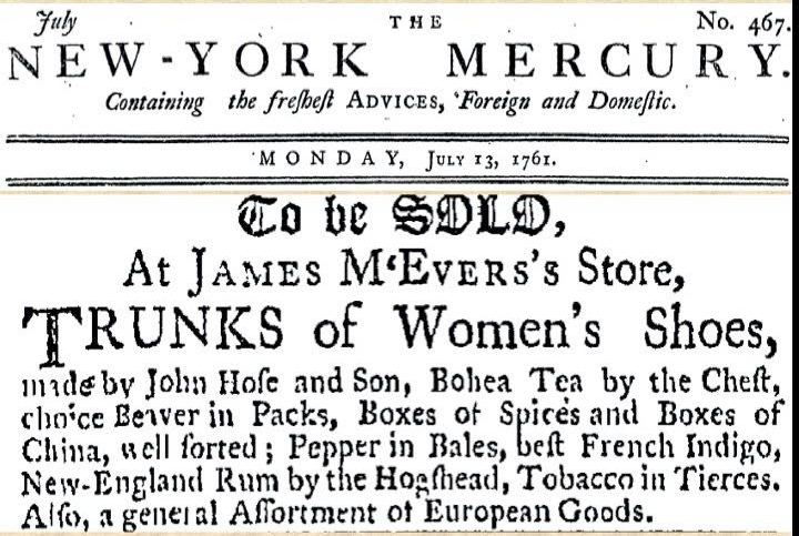 Newspaper featuring advertisement  for women's shoes.