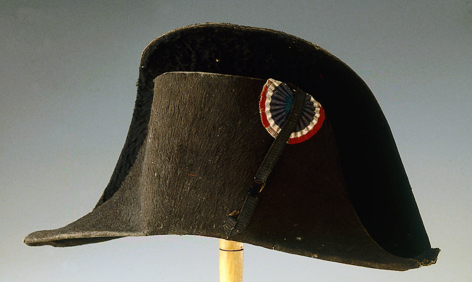 Bicorn hat with cockade.