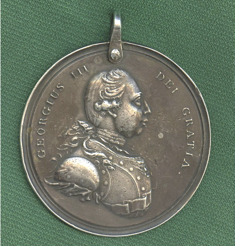 Medal with George III's profile.