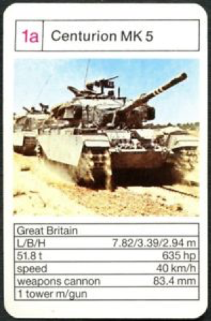 Card game with a tank and specificities.