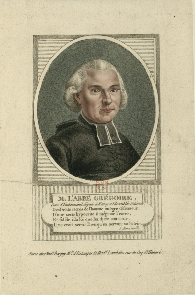 Portrait of Henri Grégoire.