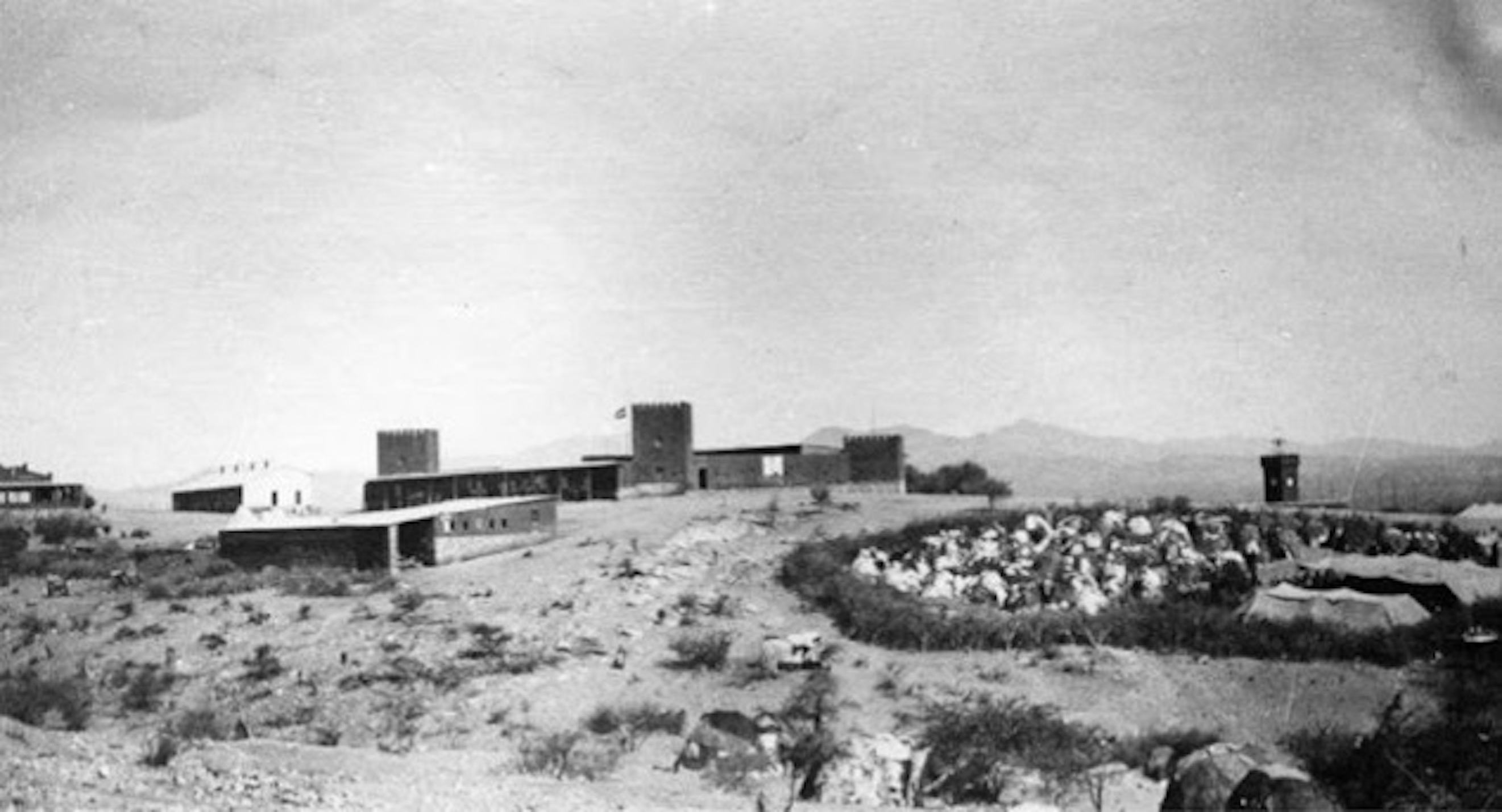 Photograph of a German military fort in Namibia.