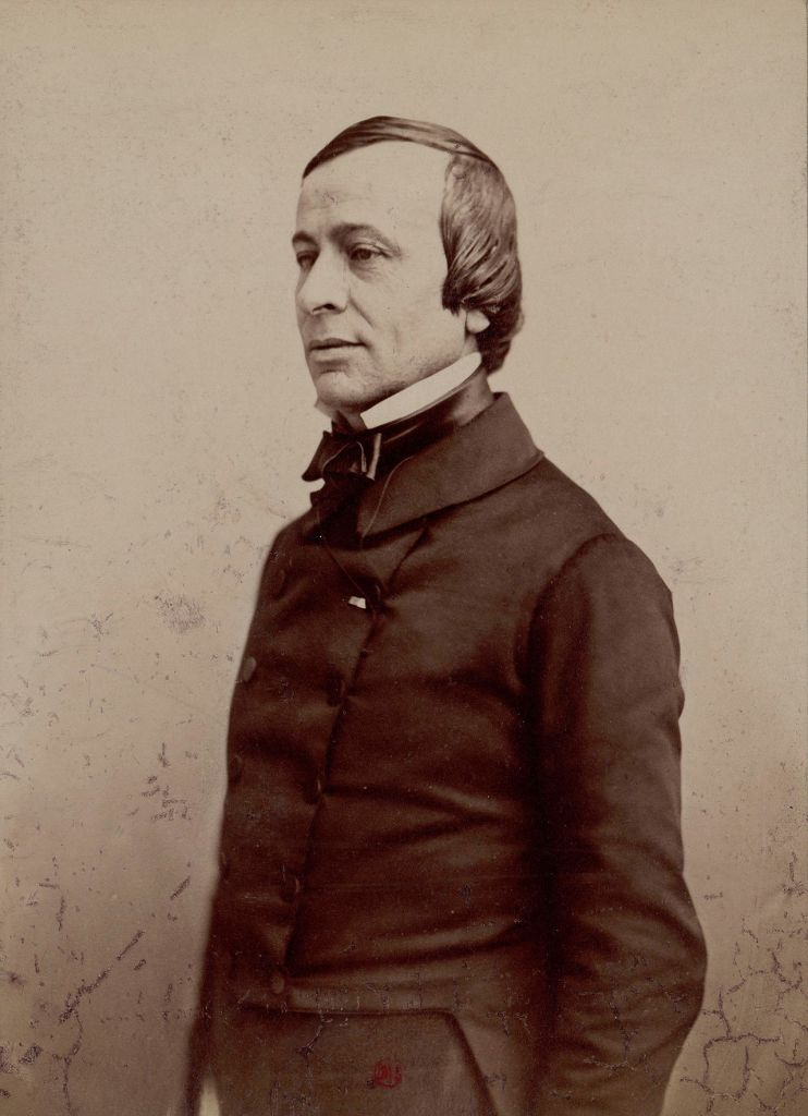 Édouard René de Laboulaye standing and posing for a photograph.