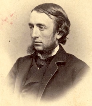 Andrew Dickson White posing for a photograph in 1865.