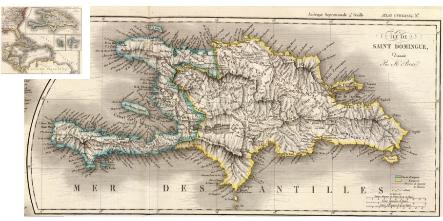 Map of the Antilles.