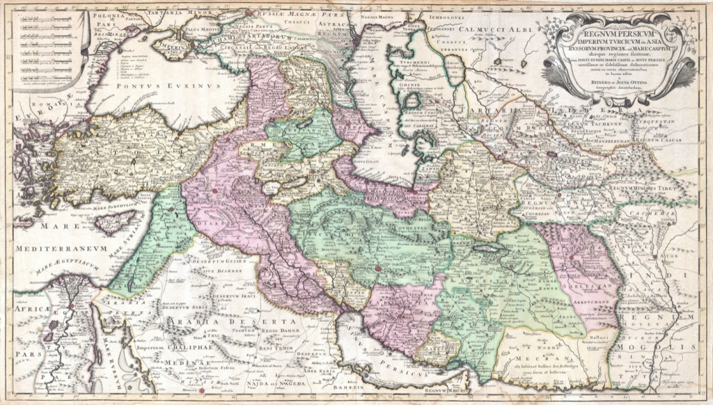 Map of the Persian Empire.